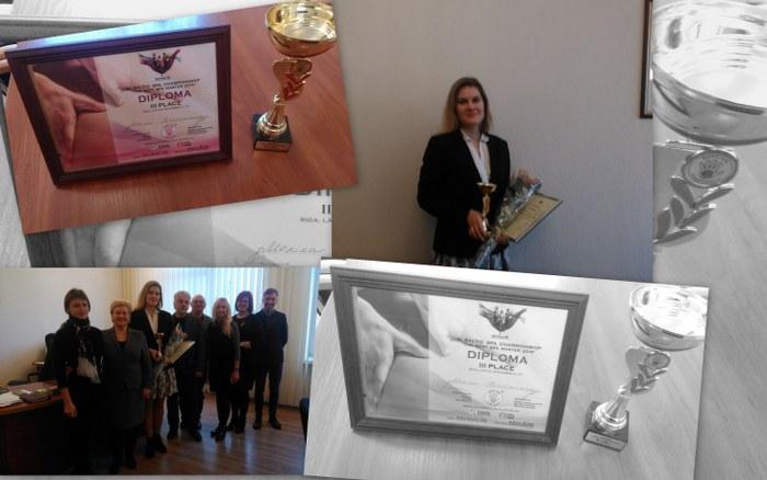 Profesijos mokytoja Monika Kavaliauskienė laimėjo III vietą Baltijos šalių SPA čempionate