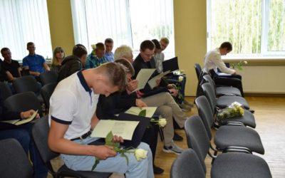 Profesinio mokymo diplomų įteikimas