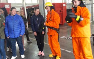 Edukacinė išvyka į Klaipėdos priešgaisrinę gelbėjimo valdybą