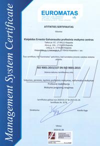 Atitikties sertifikatas