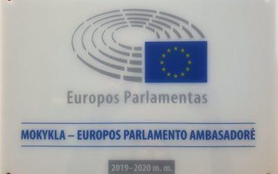 Mokykla – Europos Parlamento ambasadorė